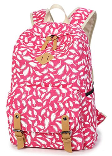 Ghlee - Bolso mochila  de Lona para mujer rojo