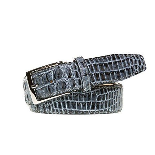 Shadow Italian Mock Croc Leather Belt