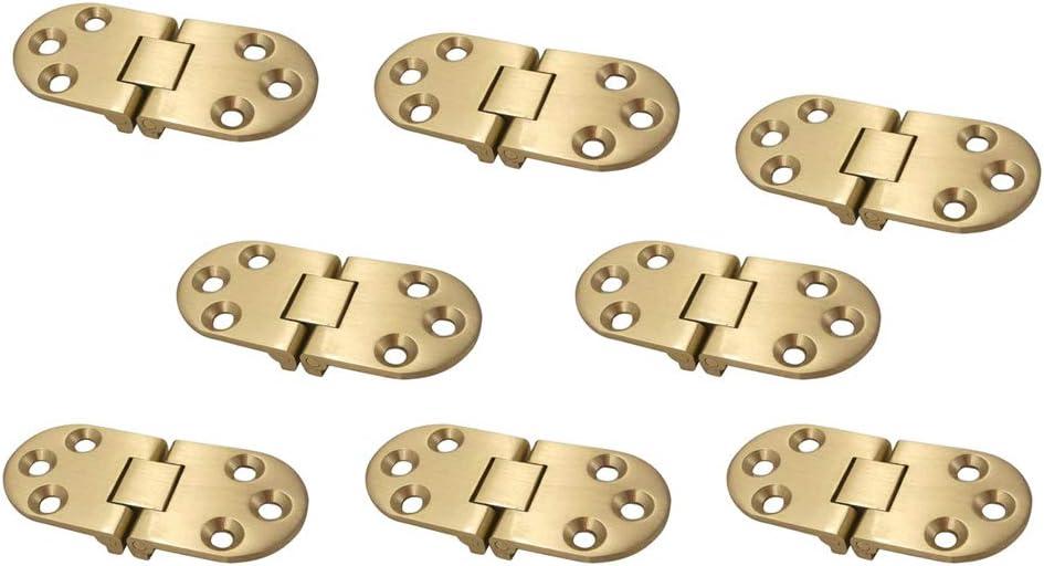 borde redondo etc f/ácil instalaci/ón bisagra para mesa de m/áquina de coser Vogueing bisagras plegables para muebles 270 grados dorado puerta y mesa plegable