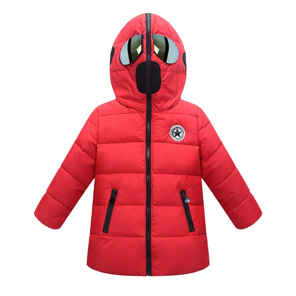Tenworld B Kids Girls Boys Quilted Jacket Spiderman Hooded Padded Puffer Coat 3-7t Kids Outerwear