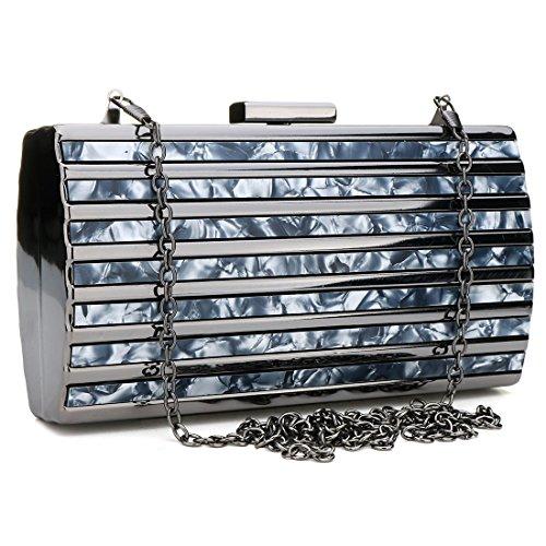 Acrylic Turquoise Handbag for Evening Women Evening Purse Womens Fashionable Clutch Box Clutches Blue Bag Luxury Uwx5OBv