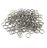 yueton Pack of 200 Nickel Plated Split Ring Chain Part for Connecting Lobster Clasp, Charms, Links and Other Jewelry (10mm)