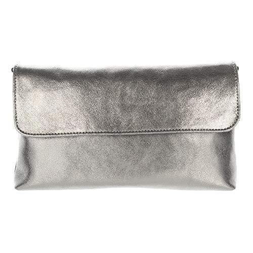 Pochette Donna Pelle Pochette Jost Boda 27 Cm Silber Metallic,