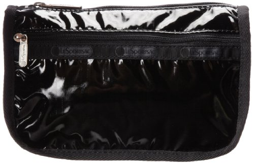 LeSportsac Travel Cosmetic Case,Black Patent,One Size