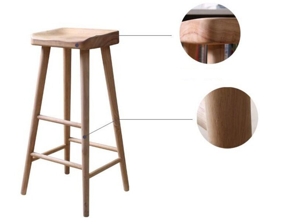 Solid wood bar stool / antique bar stool / wooden bar chairs / cafe, bar high stool ( Size : 322655CM )