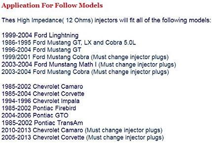 Fuel Injectors for GM LS Engines Set 8 42lb 440cc EV1 LT1 LS1 LS6 Ford Mustang SOHC DOHC Skroutz Deals