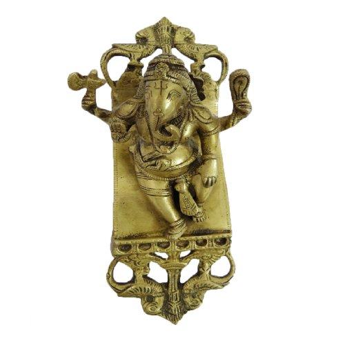 Hindu God Ganesha Statue Antique Brass Metal Figurine Indian Spiritual ()