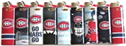 Bic NHL Montreal Full Size Lighters Lot of 8