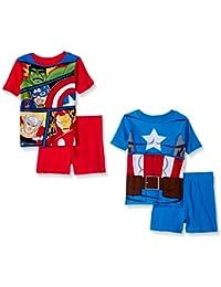 Boys Avengers 4-Piece Cotton Pajama Set