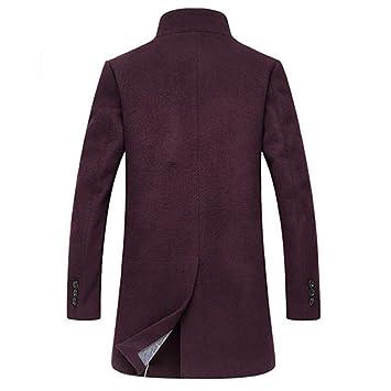 LILICAT Chaqueta para Hombre Abrigo de Invierno cálido Botón Largo Outwear Abrigos Elegantes de Abrigo (Rojo, Caqui, M/L / XL / 2XL / 3XL): Amazon.es: ...