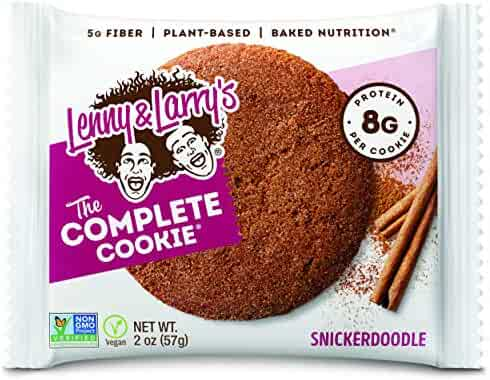 Lenny & Larry's The Complete Cookie, Snickerdoodle, 2 Ounce Cookies - 12 Count, Soft Baked, Vegan and Non GMO Protein Cookies
