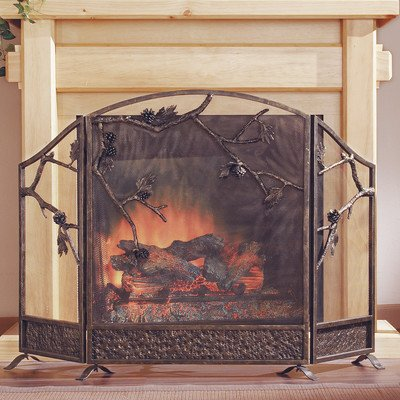 SPI Home Pinecone Fireplace Screen (Fireplace Home Depot Accessories)