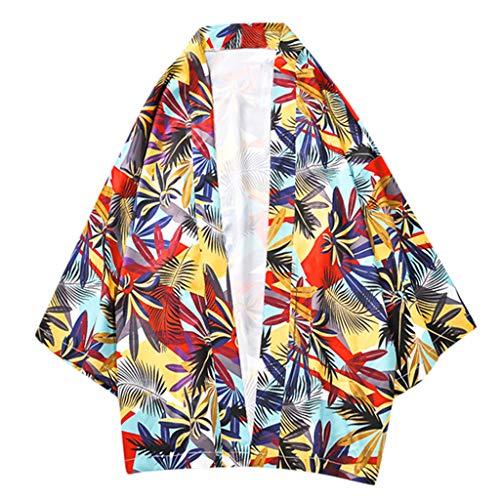 Shirts Big & Tall Short-Sleeve Guayabera Summer Fashion Casual Short Sleeve Beach Tops Loose Casual Blouse Mens (L,2- Red) -