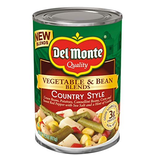 Del Monte Vegetable & Bean Blends, Country Style, 14.5-Ounce Can