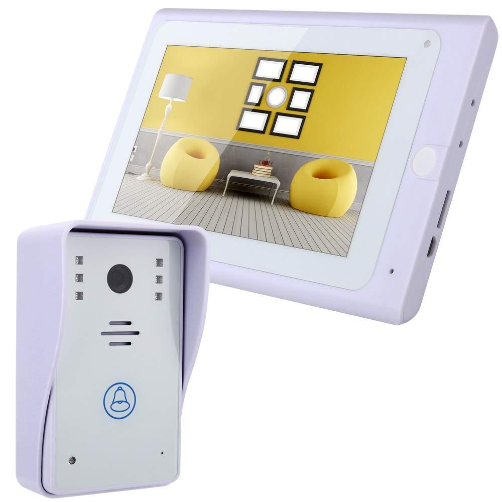 LIBO Wifi Videoportero Timbre de la Puerta IP Cá mara 7inch Monitor Toque LCD Pantalla IR Cá mara Exterior Impermeable Soporte IOS/Android Smartphone LIBO Smart Home SY705WAW11