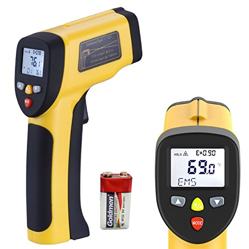 LURICO Infrared Thermometer, Non-contact Digital Laser Temperature Gun (-58F~1202F/-50C~650C) - Accurate Digital Surface IR Thermometer ( Battery Included )