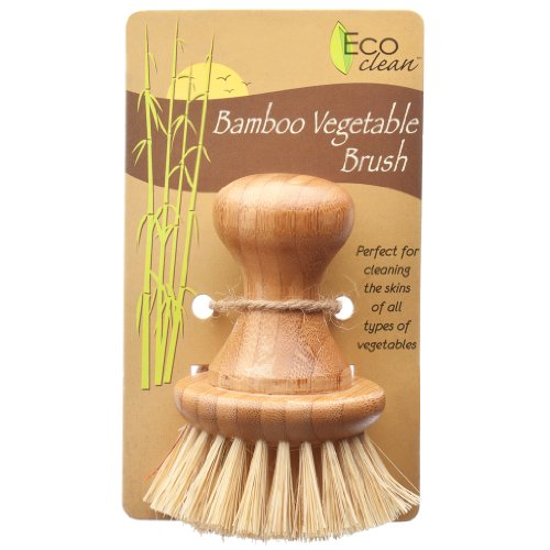 HIC Harold Import Co. Lola Eco Clean Bamboo and Tampico Vegetable Brush (Best Mushrooms To Grow For Profit)