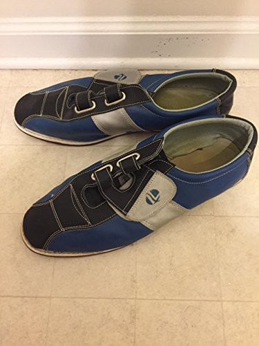 Linds Mens Monarch Rental Bowling Shoes-hook And Loop Blu / Argento