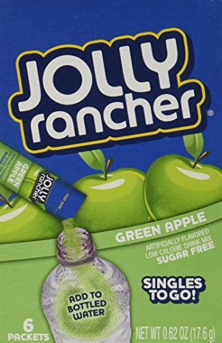 Jolly Rancher Singles-To-Go Sugar Free Green Apple Drink Mix, 6-ct (Pack of 6) ()