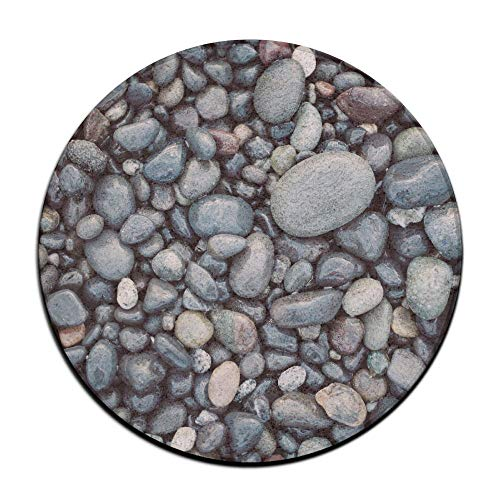 ALLMYHOMEDECOR Beach Cobblestone Stones Door Mats Non Slip Outdoor Entry Carpet Fashion Indoor Entrance Rug for High Traffic Areas Home Kitchen Floor Porch Patio Garage