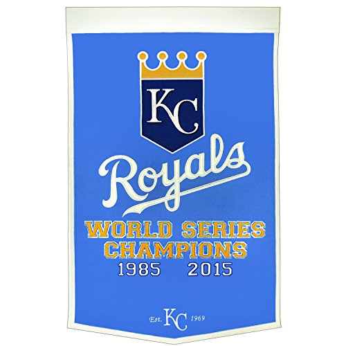 Kansas City Royals Dynasty Banner with 2015 World Series Championship