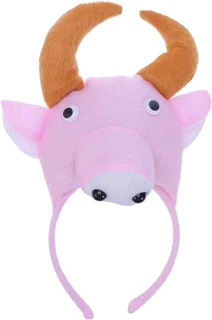 Amosfun diadema de toro para niños diadema de pelo de vaca tocado ...