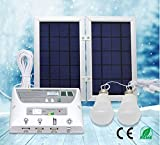 Portable Solar Power Mobile Lighting System, Home Emergency Lights/ Phone Charger with USB Port/ Power Bank for Indoor & Outdoor Activities (RV Camping, Patio) (Controller Box, 2 x 3.7V/2W LED Bulbs) Review