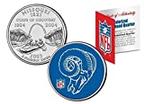 Licensed ST .Louis RAMS NFL Colorized Missouri Statehood Quarter! W/H COA & Display Stand!