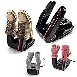 Original 2-Shoe Electric Boot Dryer Shoe Dryer Foot Dryer Glove Dryer Sock Dryer Warmer Portable Folding Dryer Adjustable Rack Black