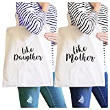 365 Printing Like Daughter Like Mother Natural Couple Canvas Bag For Mothers Day