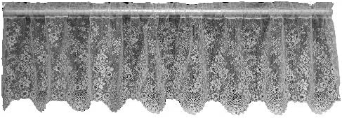 VHC Brands 6140 Burlap Chocolate Balloon Valance 60×15