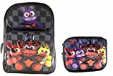 Five Nights at Freddy's Large Backpack 16'' Boys School Book Bag Plus Lunch Bag
