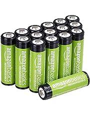 AmazonBasics AA-Batterien, wiederaufladbar, vorgeladen, 16 Stück (Aussehen kann variieren)