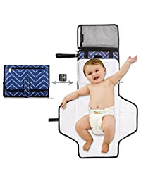 Portable Changing Station with Cushioned Changing Pad Baby Diaper Nursery Accessories for Travel Gift Package WILLCARE