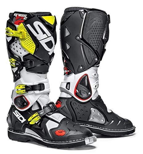 (Sidi Crossfire 2 TA Offroad Boots White Black Yellow (US 11))
