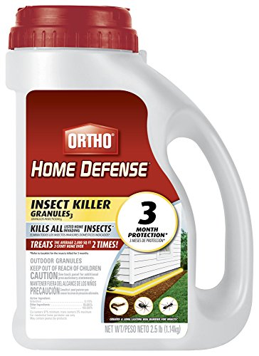 - Ortho 071549020095 0200910 Home Defense Max Insect Killer Granules, 2.5 lb, Brown/A
