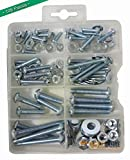 Bolts, Nuts, and Washer Assortment Kit, 108 Pieces