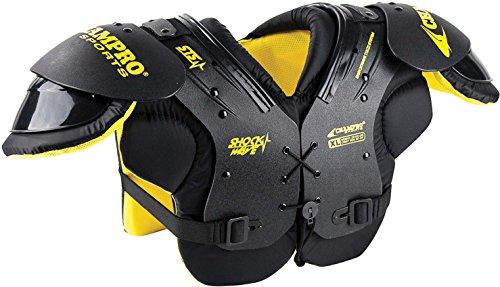 Champro Sports Shock Wave Shoulder Pad, Black, (Black Football Shoulder Pads)
