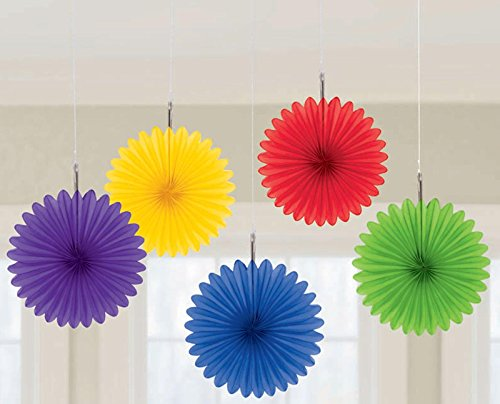 radiant rainbow mini hanging fan