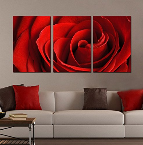 """Generic Modern Landscape """"Red Rose"""" Canvas Print Wall Art for Home Decor No Frame"""