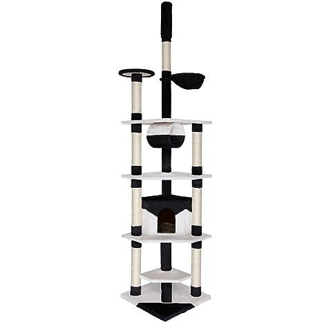 Dibea KB00427 Árbol Rascador Escalador para Gatos, 240-260 cm, Altura Ajustable del