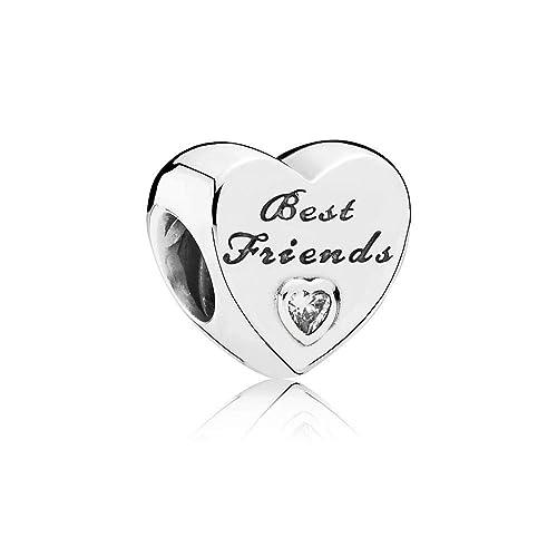 Pandora Silver CZ Friendship Heart Charm 791727CZ