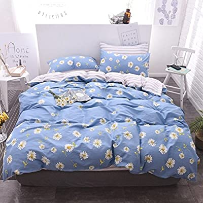 DACHUI Cotton bed sheets - 1800 beds fade, stain resistant - Hypoallergenic - 4 units (single)-b Queen 1.