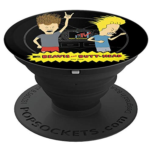 MTV Logo Beavis And Butthead Head Bang - PopSockets Grip and Stand for Phones and Tablets
