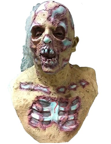 Blurp Charlie Mask (Maybest Fear Mask Latex Decaying Zombie Adult Horror Halloween Pros Creepy Horror Monster Mummy Easter Cosplay Style 05 One Size)