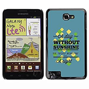 YOYO Slim PC / Aluminium Case Cover Armor Shell Portection //A Day Without Sunshine //Samsung Note