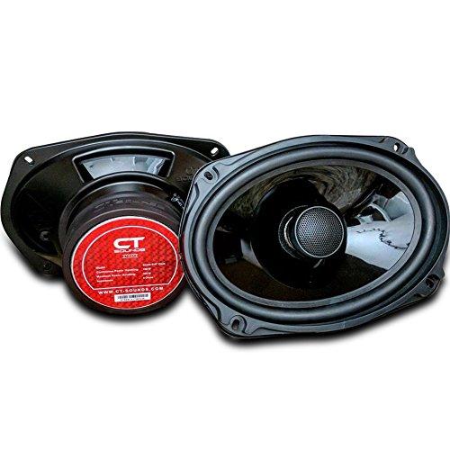 100 Watt 21 Magnet Mount - CT Sounds Strato 6x9 Inch Car Audio Coax Door Speaker Set - Pair