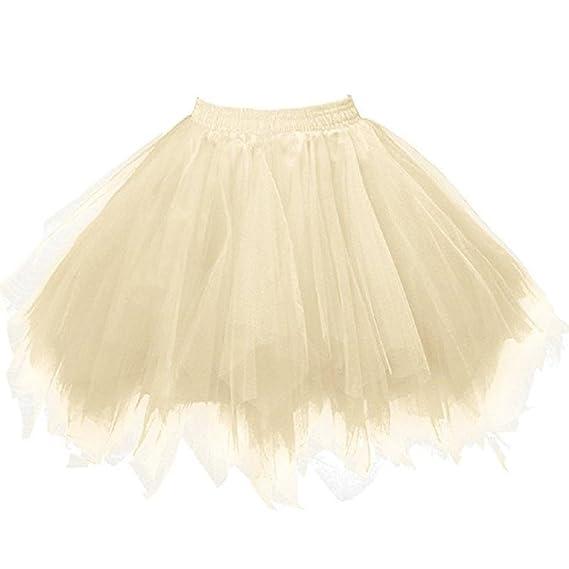 falda de tul, Gusspower Vestido de Fiesta de la Princesa TuTu Falda Lentejuela Estrella Gasa
