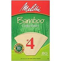 Filtros de café de bambú Melitta, bambú n. 4, cajas de 80 unidades (paquete de 6)