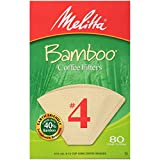 Melitta #4 Cone Coffee Filters, Bamboo, 80 Count